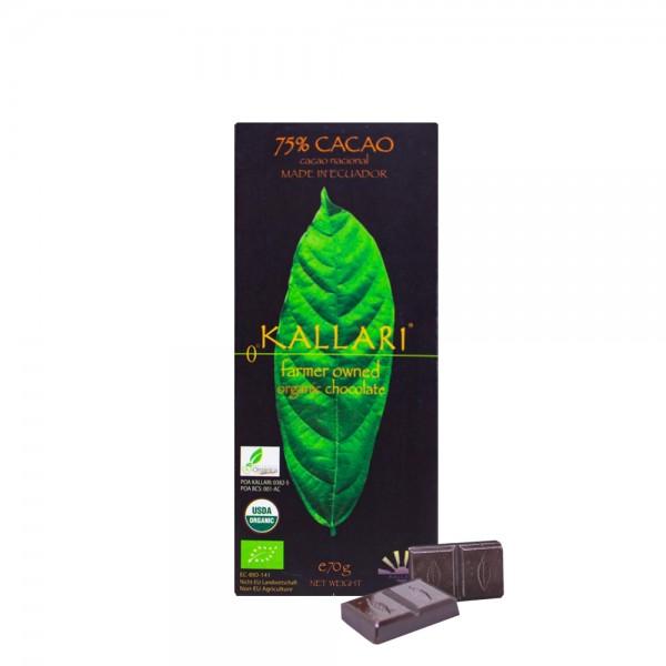 Kallari - BIO Schokolade 75%