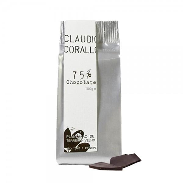 Claudio Corallo-Schokolade 75 % 100g