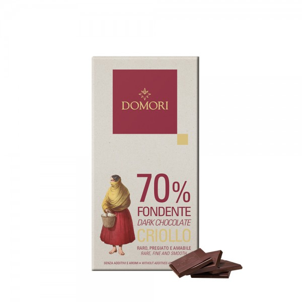 Domori - 70 % Fondente Criollo, 50g