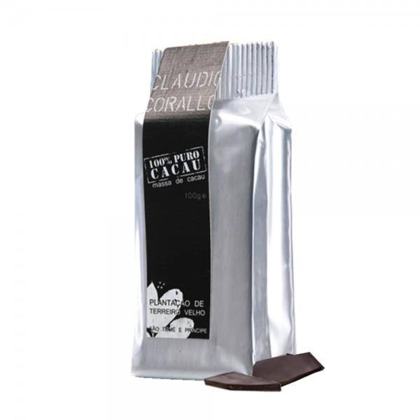 Claudio Corallo-Schokolade Massa de cacau 100% 100g