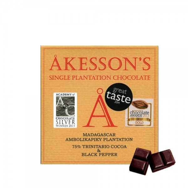 Åkesson's - Schokolade Black Pepper 75% 60g