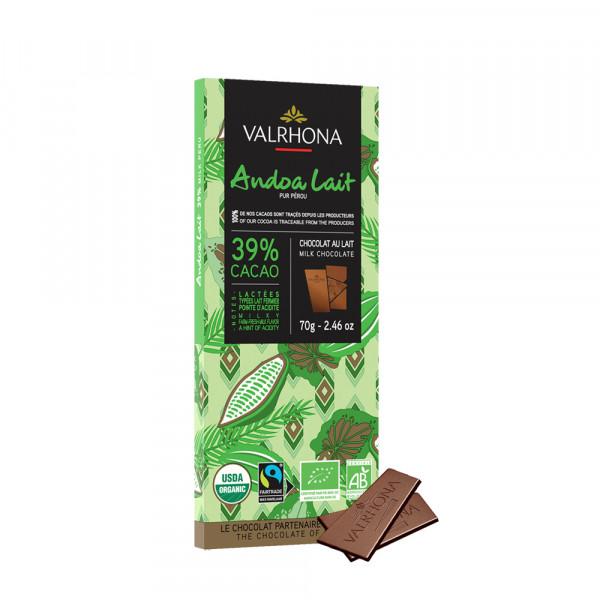 Valrhona - Milchschokolade Andoa Lait 39%