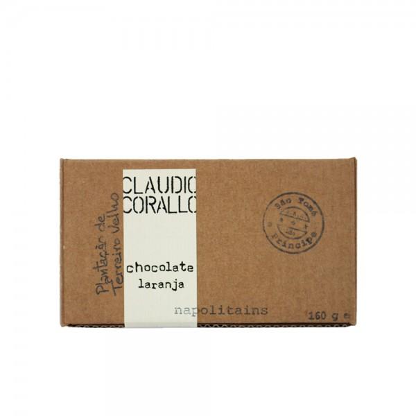 Claudio Corallo Schokolade laranja Napolitains 70% 160g